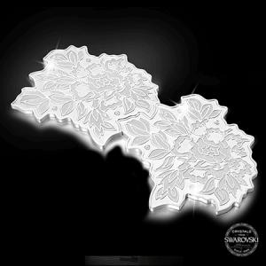 【PEONY】 925純銀杯墊對裝 綴0.45卡天然鑽石