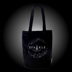 【PURE】 黑色時尚手挽袋綴施華洛世奇®元素